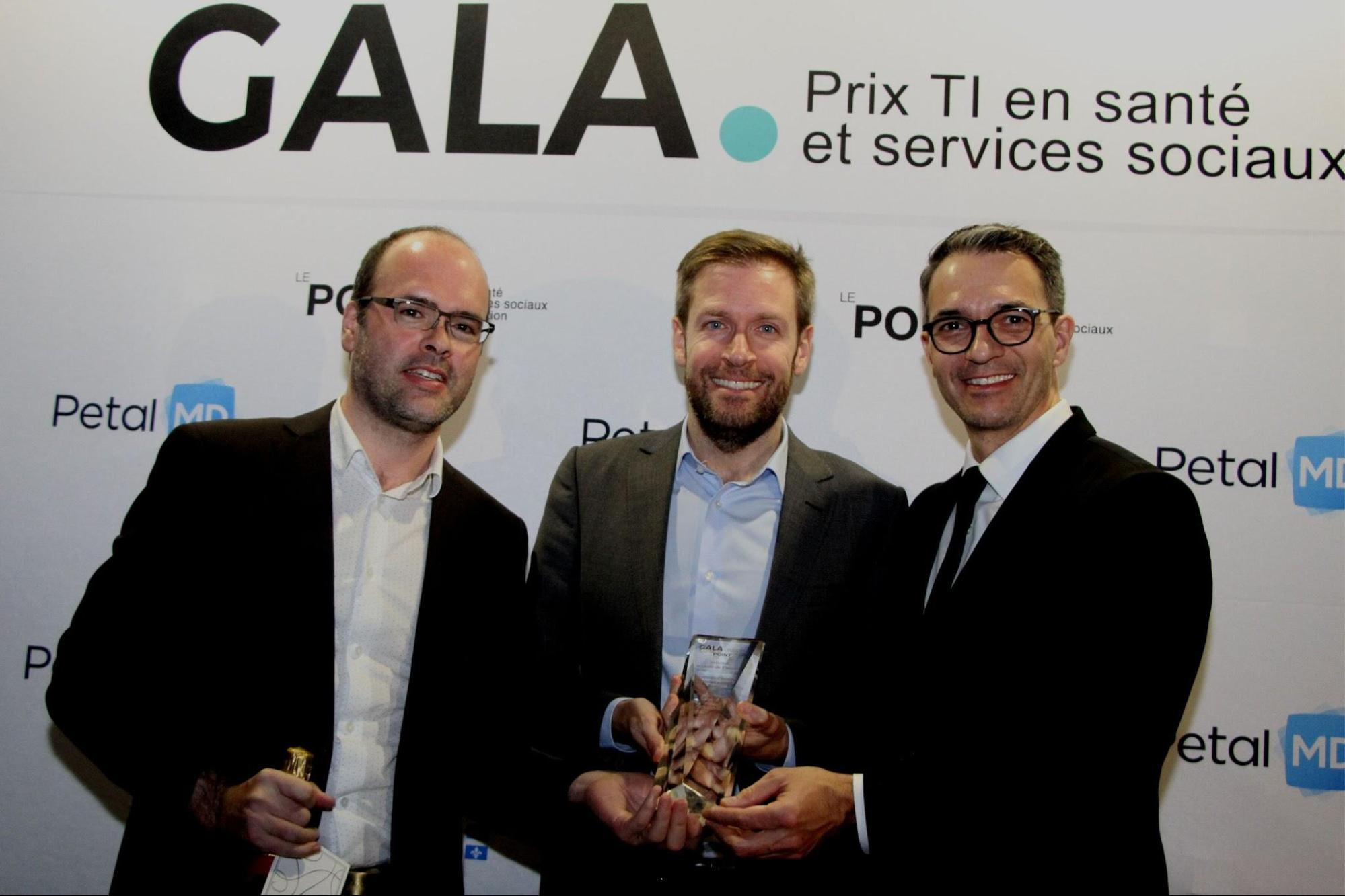 Opal wins eHealth solution of the year in Quebec eHealth Awards Gala